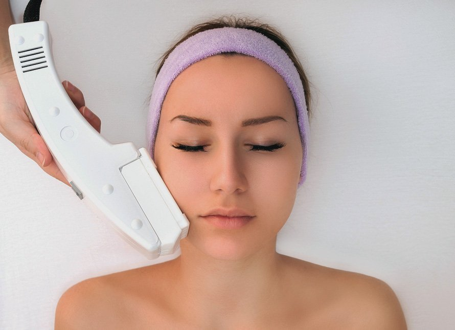 Woman Receiving Intense Pulsed Light Treatment