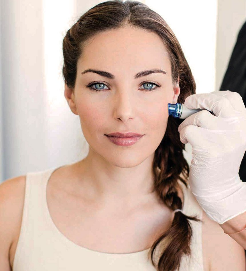 Woman Receiving HydraFacial Treatment