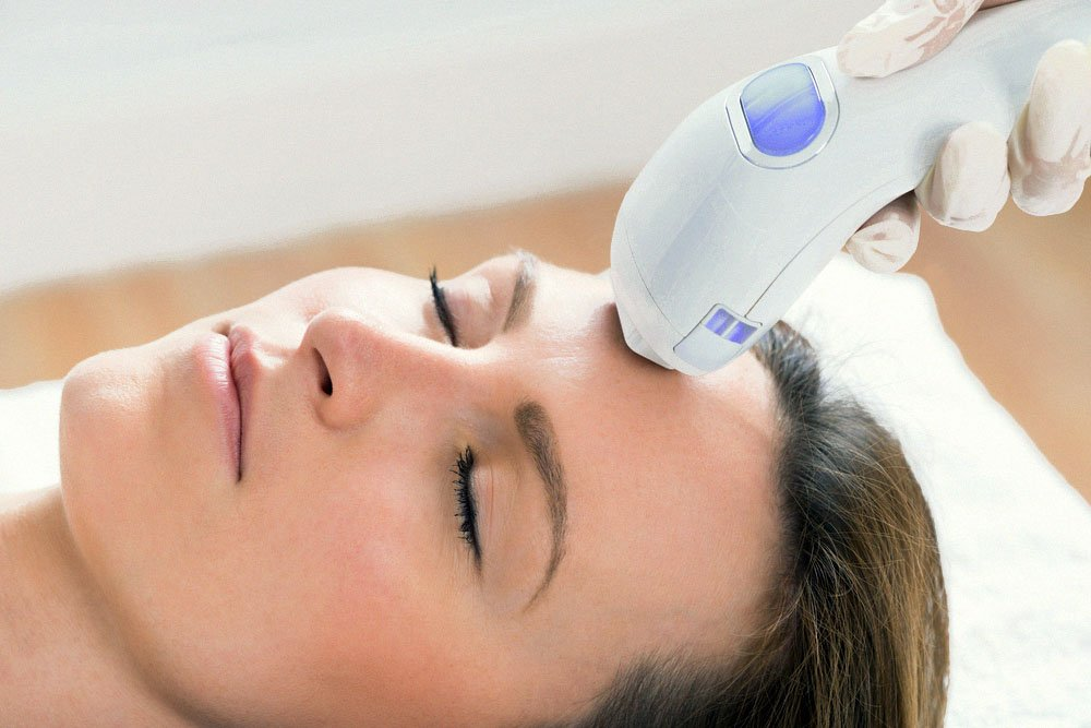 Woman having IPL Therapy