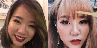 No more bulbous nose! Winter's left photo showcases a much slimmer nose.