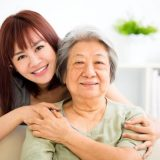 Saggy skin asian woman ageing