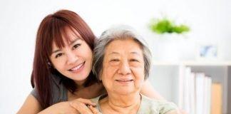 Saggy skin asian woman ageing