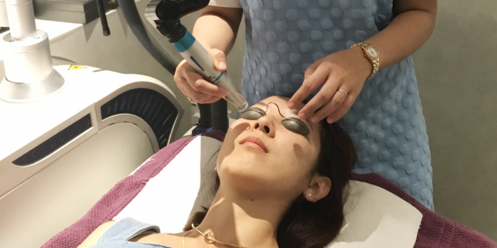 This first laser facial aimed to improve Airin's dull complexion