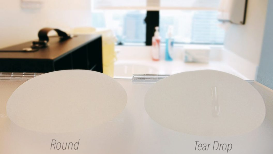 Two shapes of implants you can choose from Round and Teardrop.
