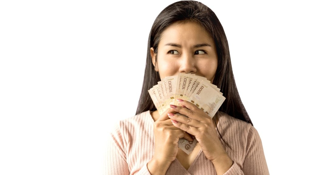 girl with a cash