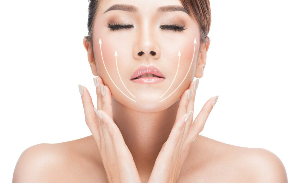 v shape ultra v lift face lines