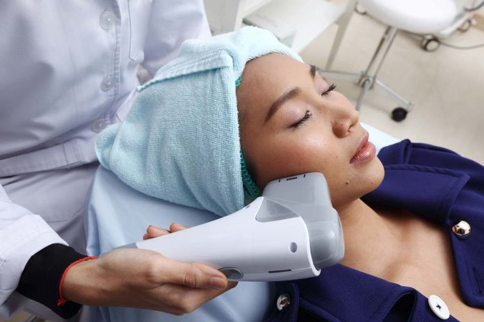 Facial skin tightening treatment