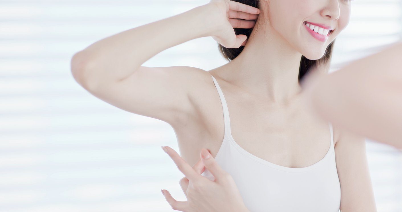 Woman happy with hair removal