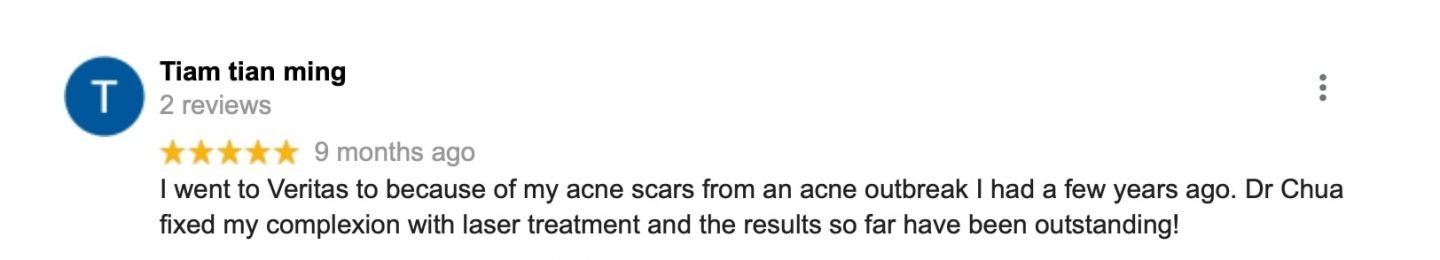 Dr Chua Cheng Yu Acne Scar Removal Review 2